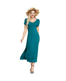 Women's Double V- Neck Dress