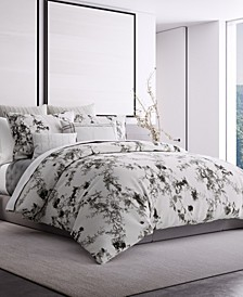 Charcoal Vines King Duvet Cover