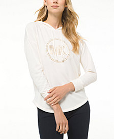 Michael Michael Kors Drop-Shoulder Logo Hoodie, Regular & Petite Sizes