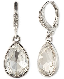 Teardrop Stone & Crystal Drop Earrings