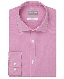 Michael Kors Men's Slim-Fit Non-Iron Performance Stretch Stripe Knit Dress Shirt