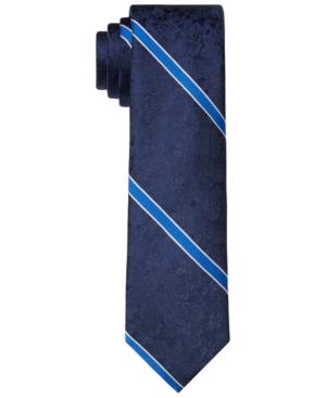 Tommy Hilfiger Men's Slim Floral Stripe Tie