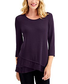 Asymmetrical Chiffon-Hem Tunic, Created for Macy's