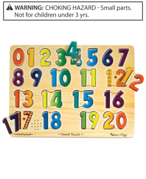 Melissa and Doug Kids Toy Numbers Sound Puzzle