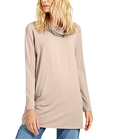 Cowl-Neck Knit Tunic