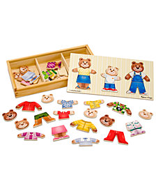 Melissa and Doug Kids Toy, Wooden Bear Family Dress-Up Puzzle