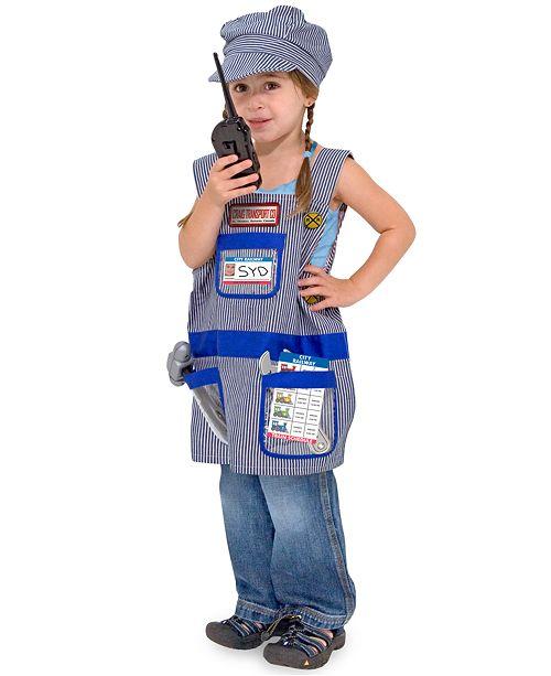 Melissa and Doug Kids Costume, Train Engineer Dress-Up Set