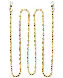 "Gold-Plated Dapped Link 25"" Glasses or Face Mask Chain"