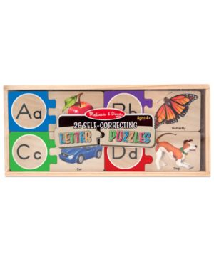 Melissa and Doug Kids Toy, Letter Puzzles 1095795