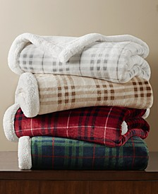 Sherpa Plaid Throw, Created For Macy's