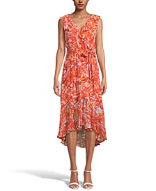INC Printed Ruffled Midi Dress, Created for Macy's