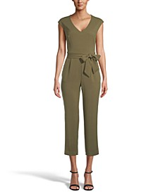 Crepe Belted Jumpsuit, Created for Macy's