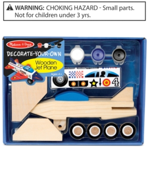 Melissa and Doug Kids Toy DecorateYourOwn Wooden Jet Plane