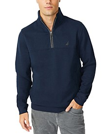 Men's Solid 1/4-Zip Fleece Pullover
