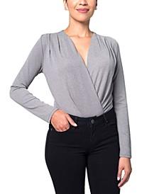 Metallic-Knit Bodysuit