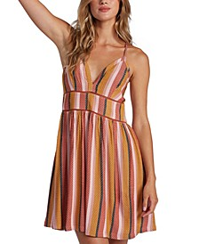 Juniors' New Silver Light Striped Dress
