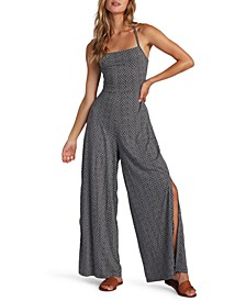Juniors' One Last Time Strappy Wide-Leg Jumpsuit