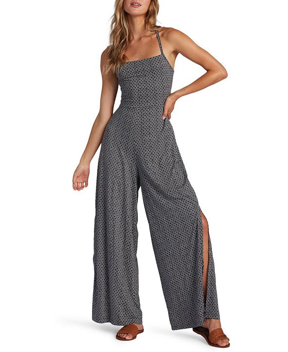 Roxy Juniors' One Last Time Strappy Wide-Leg Jumpsuit