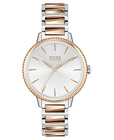 Women's Signature Two-Tone Stainless Steel Bracelet Watch 34mm
