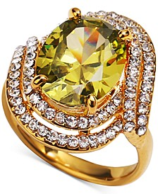 Gold-Tone Crystal Double Halo Ring, Created for Macy's