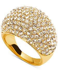 Gold-Tone Pavé Dome Ring, Created for Macy's
