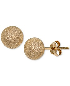 Glitter Stud Earrings in 18k Gold-Plated Sterling Silver, Created for Macy's