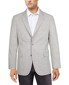 Men's Modern-Fit Gray/Blue Plaid Sport Coat