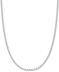 "Rolo Link 24"" Chain Necklace in Sterling Silver, Created for Macy's"