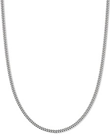"Curb Link 20"" Chain Necklace in Sterling Silver, Created for Macy's"