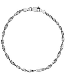 Butterfly Link Chain Bracelet in Sterling Silver, Created for Macy's