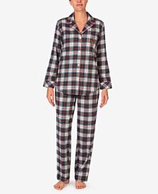 Brushed Twill Plaid Pajamas Set