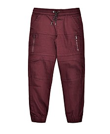 Big Boys Biker Moto Stretch Twill Jogger with Zippers