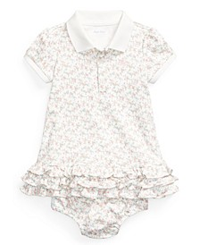 Baby Girls Ruffled Polo Dress and Bloomer