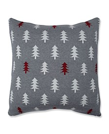 "Glitzy Trees Throw Pillow, 18"" L x 18"" W"