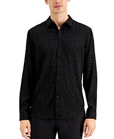 INC Men's Rio Leopard Print Shirt, Created for Macy's