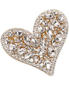 Gold-Tone Crystal Heart Pin, Created for Macy's