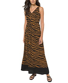 Plus Size Animal-Print Maxi Dress