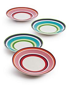 Wickford Cafe Stripe 4 Piece Tidbit Plate