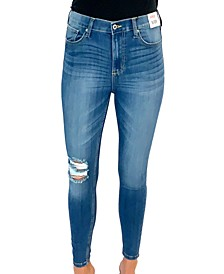 Juniors' High-Rise Skinny Ankle Jeans