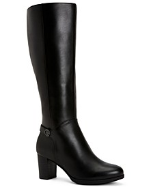 Adonnys Memory-Foam Wide-Calf Boots, Created for Macy's