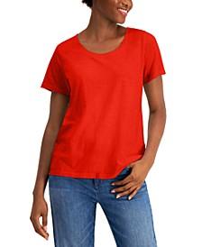 Scoop-Neck Organic Cotton T-Shirt