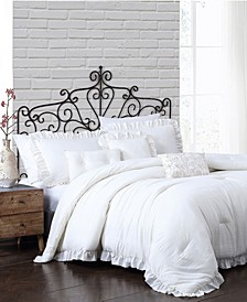 Davina Enzyme Ruffled 6 Piece Comforter Set, Queen