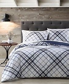 House Khalvin Plaid 7 Piece Comforter Set, Twin