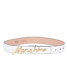 Women's Leather Signature Logo Thick Belt (37% Off) -- Comparable Value $365