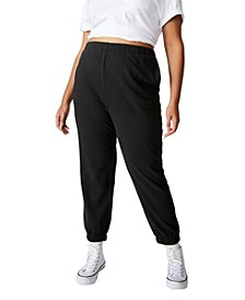Trendy Women's Plus Size High Rise Sweatpants