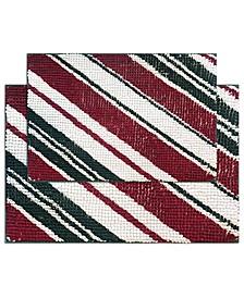Candy Stripe 2-Pc. Bath Rug Set