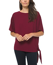 Side Tie Boat Neck Top