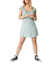 Woven Maive Sweetheart Mini Dress
