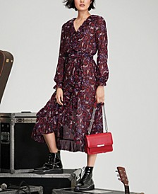 Zinnia Paisley-Print Wrap Dress