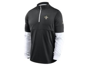 Nike New Orleans Saints Men's Sideline Half Zip Therma Top